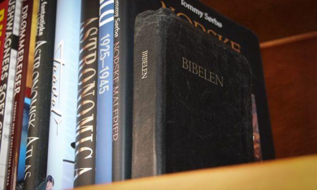 Kun halvparten har en bibel hjemme